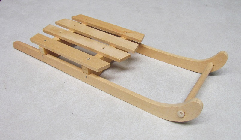 Natural Wood Sled - 12x1.5x4 inch - 4 per pkg