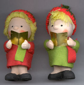 Ceramic Carolers - 4 1/2 inch - 12 assorted