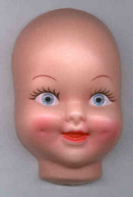 4 inch Doll Face with Dimples