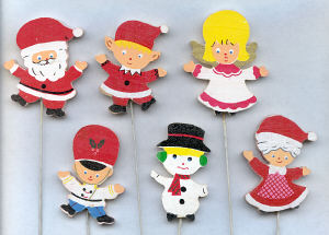 Christmas Figures - 2 1/2 inch - 12 assorted