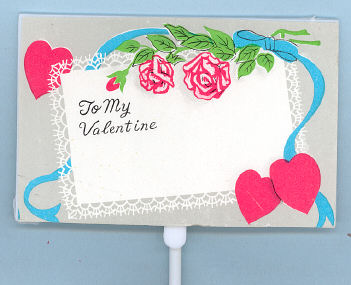 To My Valentine Pick - 3-1/2 x 2-1/4 inch on 10 inch plastic pick - Plastic - 12 pieces