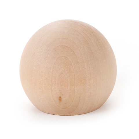 Wood Ball - Knob - Pre Pack - 1-1/4 inches - 3 pieces