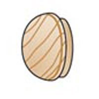 Wood Furniture Buttons - 1 inch - 6 pieces