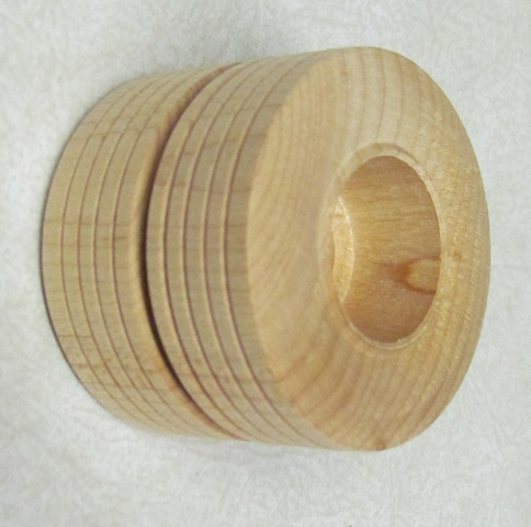 Wood Dual Tread Wheel - 2 inches - 2 pieces