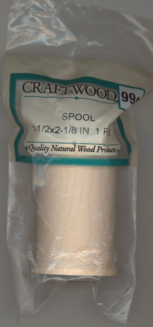 Wood Spools - 1-1/2 x 2-1/8 inches - 1 pieces