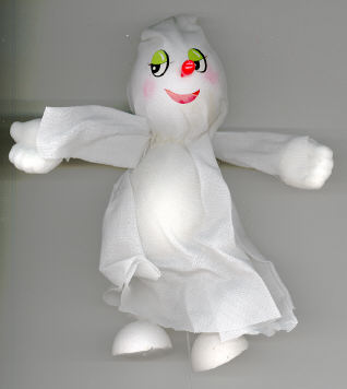 Ghost - 6 inch - fabric - on wire pick - 1 piece