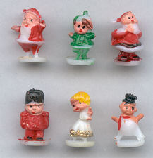 Mini Christmas Figures - 5/8 inch - 12 assorted