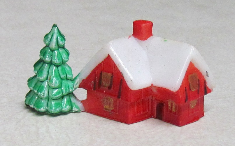 House with Tree - 1 x 1-3/4 inch. - 12 pieces.