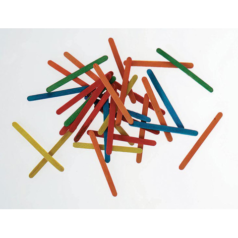 Wood Craft Sticks - Colored - Mini - 2-3/4 inches - 200 pieces