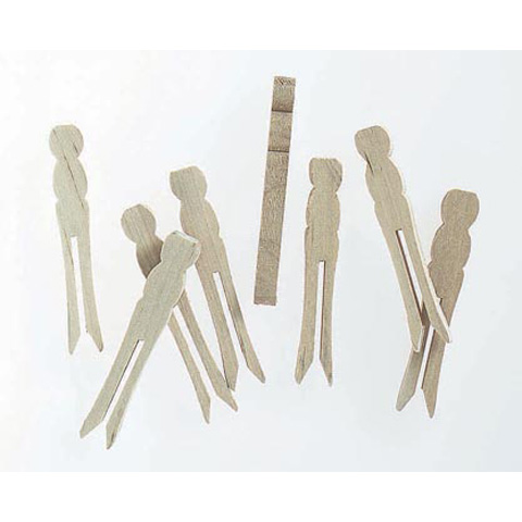 Clothespin - Flat - Natural - 2-1/2 inch Mini - 30 pieces