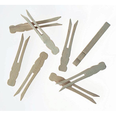 Clothespin - Flat - Natural - 3-7/8 inch Large - 20 pieces