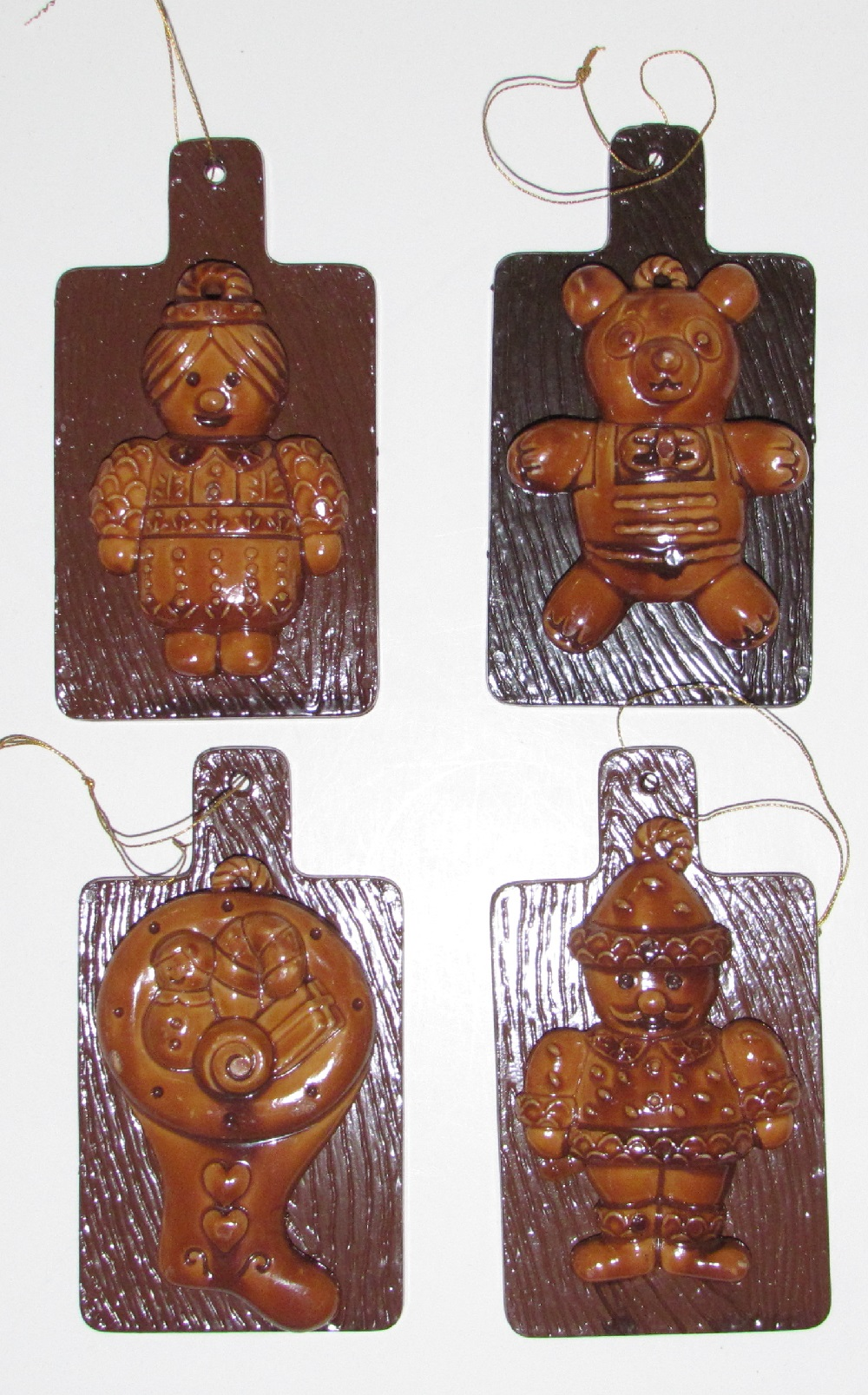Gingerbread Figures - Plastic - 4 inch - assorted - 4 styles.