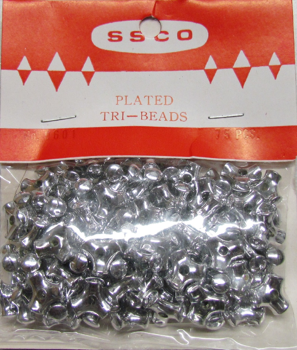 Tri Bead - Plated - 75 pieces