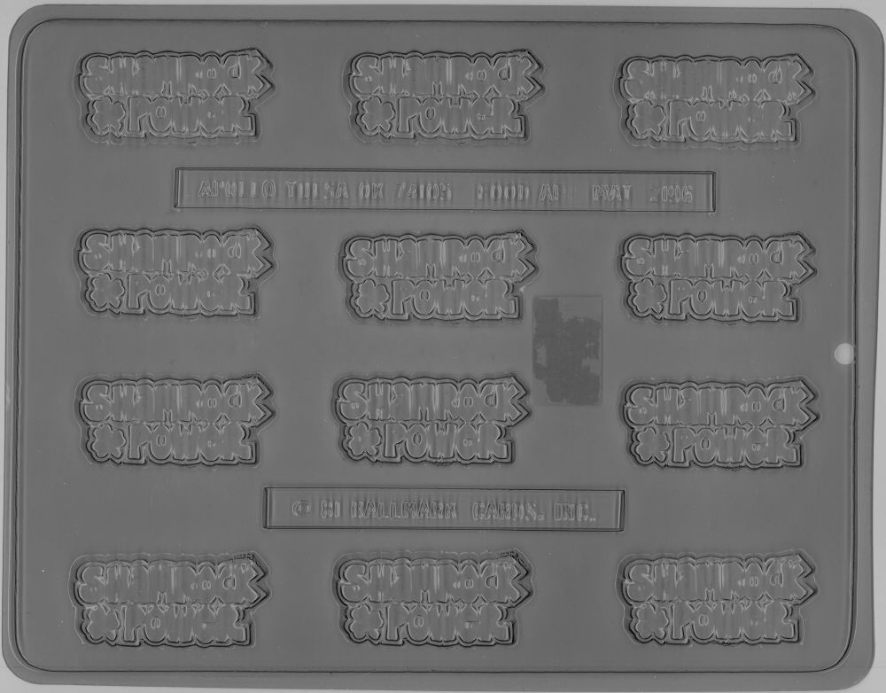 Shamrock Power Candy Mold - Plastic
