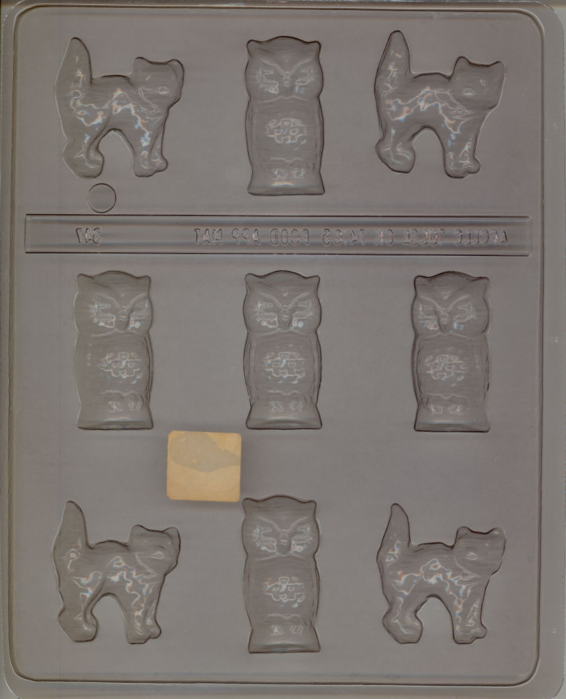 Small Owl/Cat Candy Mold - Plastic