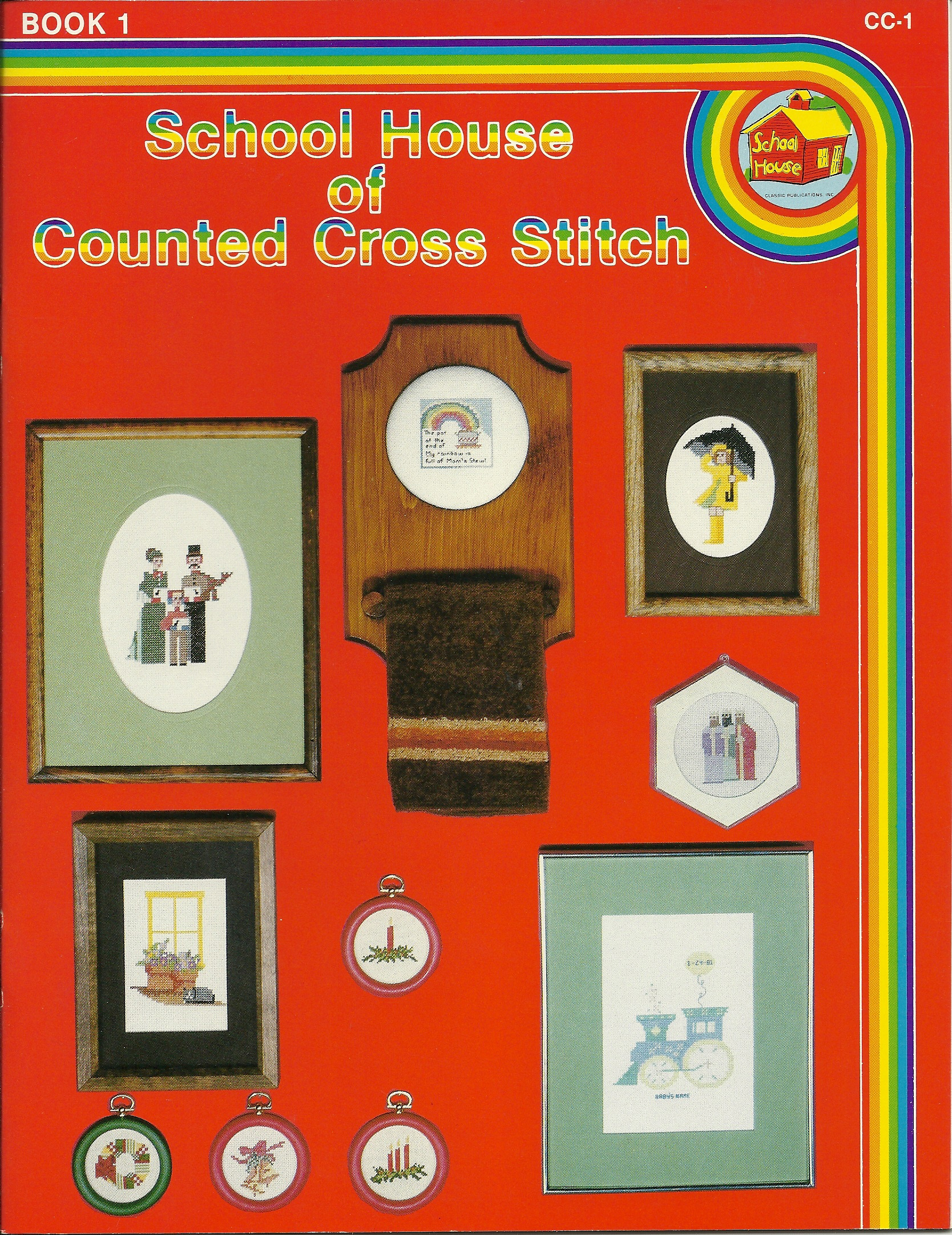School House of Counted Cross Stitch  Book 1