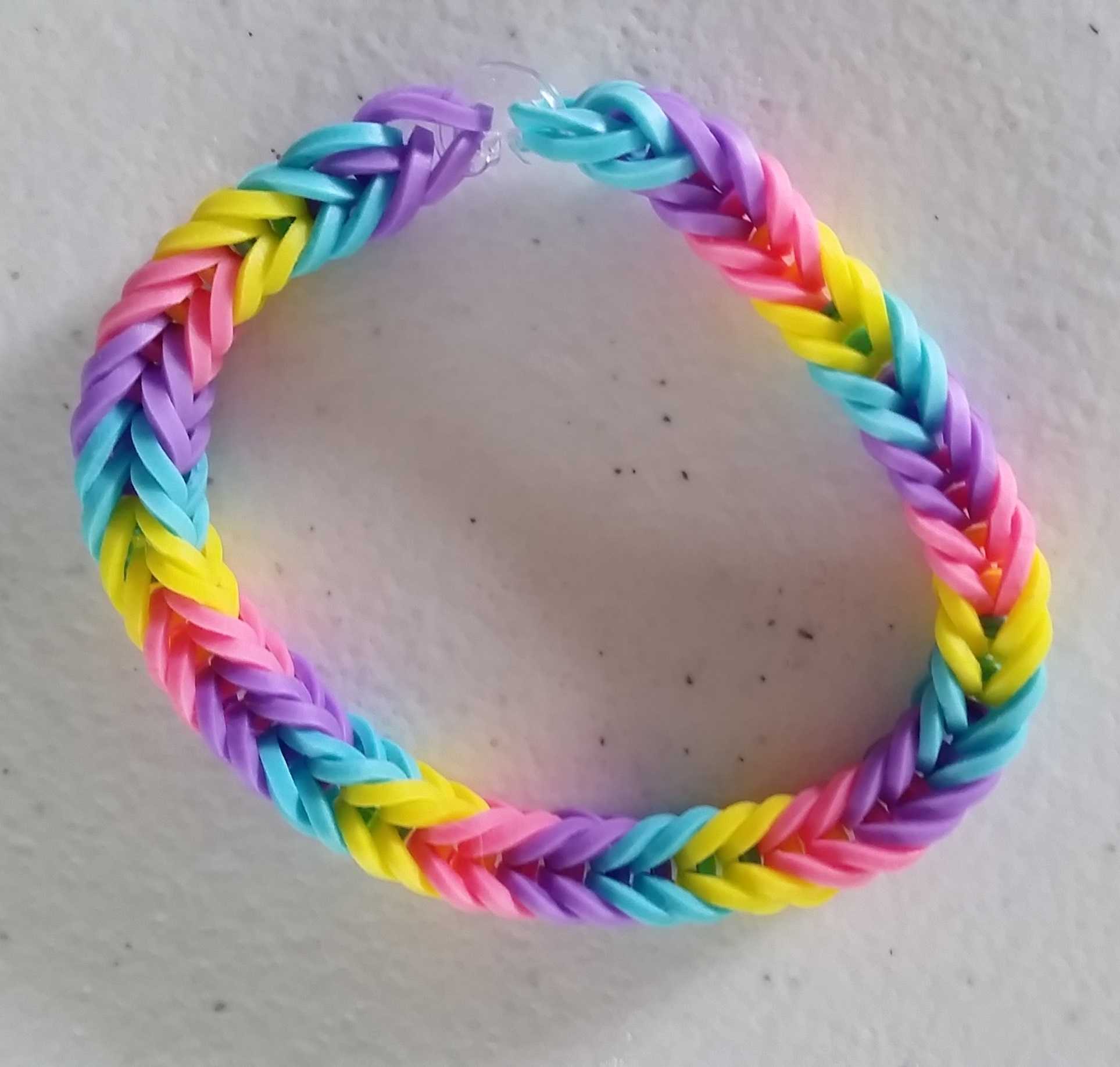 Pastel Rainbow - Fishtail Bracelet