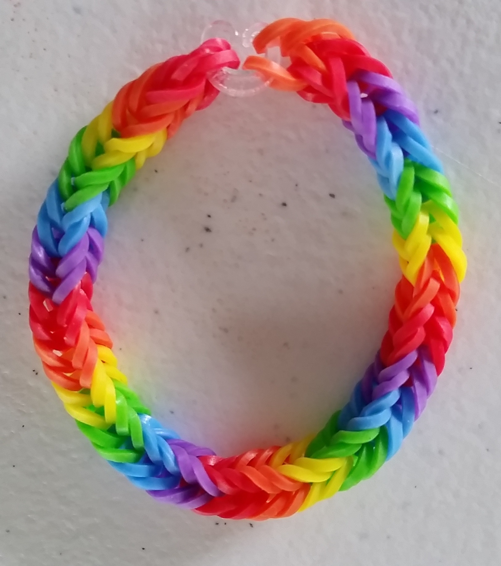 Rainbow Double Bands Fishtail Bracelet