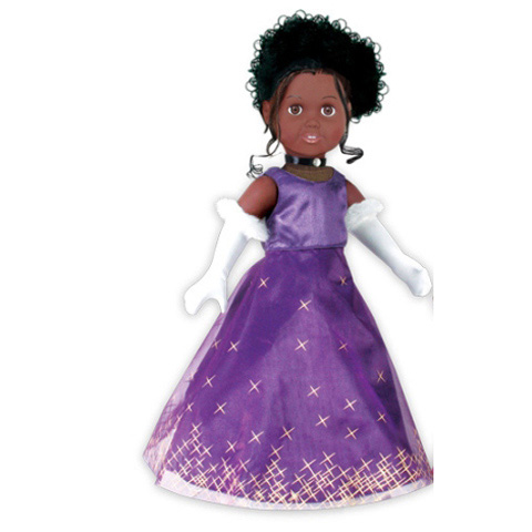 Springfield Collection 18 inch Doll Clothes - Purple Party Dress with Gloves - 1 set