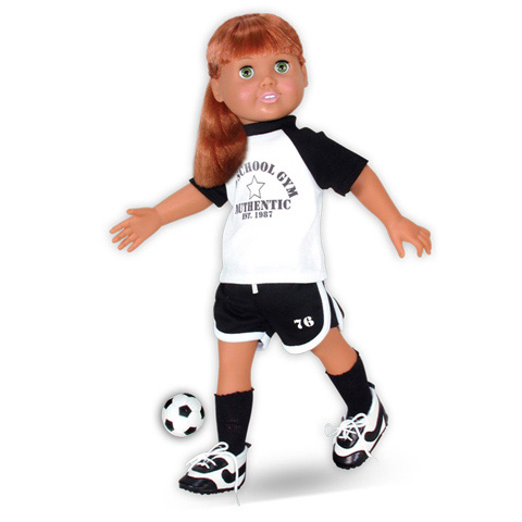 Springfield Collection 18 inch Doll Outfit - Soccer T-Shirt & Shorts - 1 set
