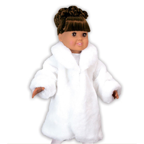 Springfield Collection Doll Accessories - White Fur Coat