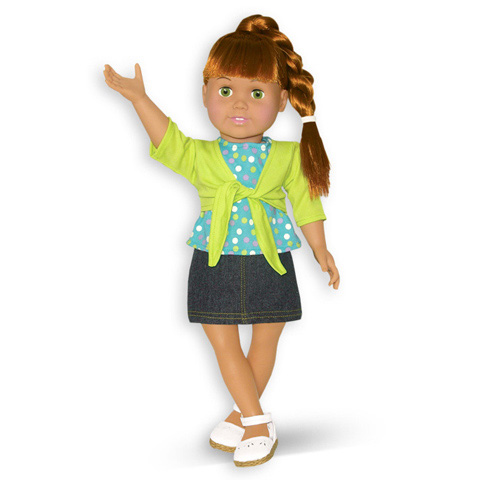 Springfield Collection Doll Outfit - Skirt, Shrug, and Shoes
