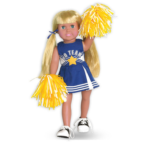 Springfield Collection Doll Clothes - Cheerleader Outfit with Pom Poms - 1 set