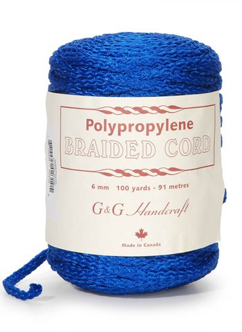 Braided Macrame Cord - Royal Blue - 6mm - 100 yards