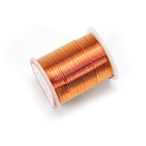 Beading Wire - 24 Gauge - Copper - 17 yards