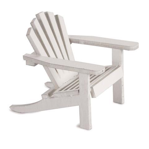 Timeless Minis™ Miniature Furniture - Mini White Adirondack Chair