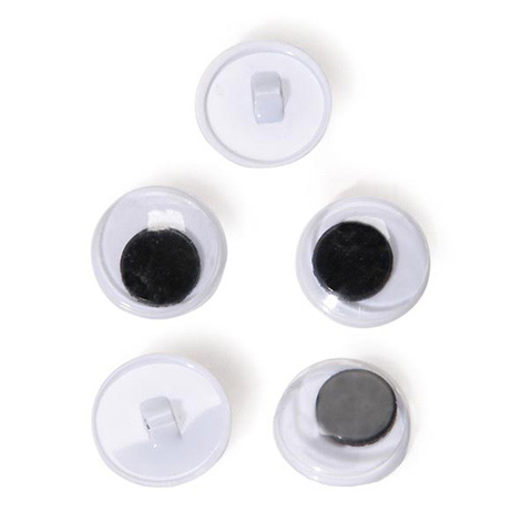 Sew On Eyes - Movable - Black - 15mm - 144 pieces