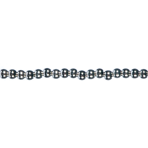 60 inch Pearl Strand - Prepack - Round - Silver - 3mm Pearls