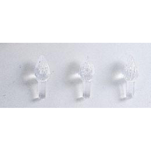 Ceramic Tree Accessories - Flame Pin - Clear - 10/16 inch - 100 pack
