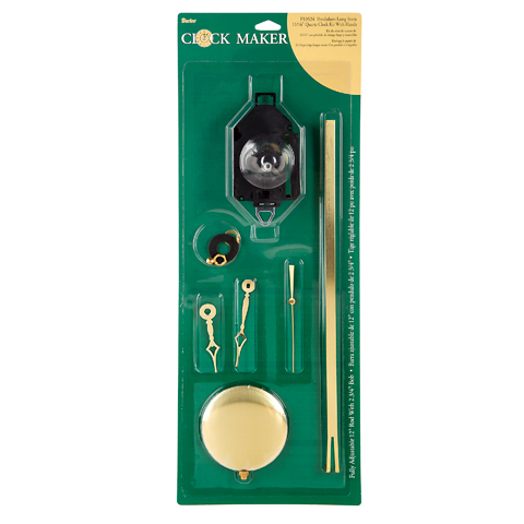 Clock Kit - Long Pendulum with Hands - 3/16 inch