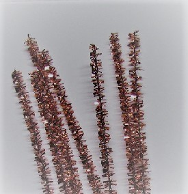 Tinsel Stems - 6mm - Pink - 12 inches - 100 pieces