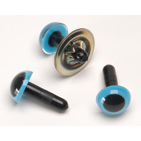 Animal Eyes with Metal Washers - Blue - 9mm - 100 pieces