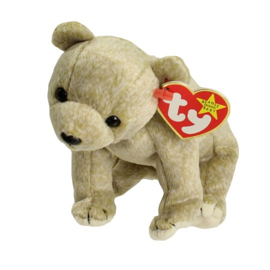 TY Beanie Baby - ALMOND the Beige Bear (7 inch)