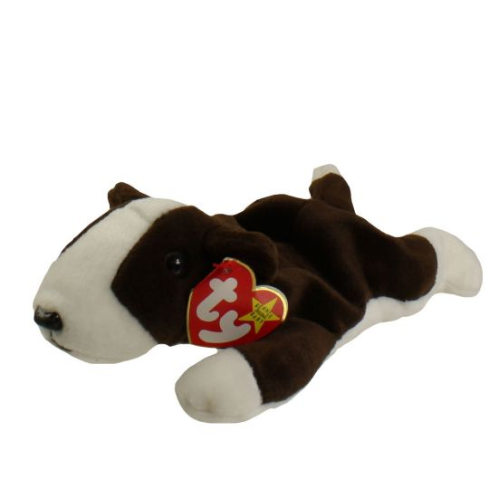 TY Beanie Baby - BRUNO the Bull Terrier Dog (8.5 inch)