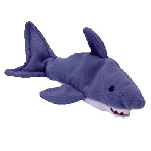 TY Beanie Baby - CRUNCH the Shark (10.5 inch)