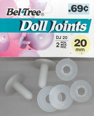 Doll Joints - 2 Sets with Header - 20mm 