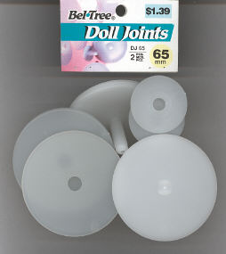 Doll Joints - 2 Sets with Header - 65mm