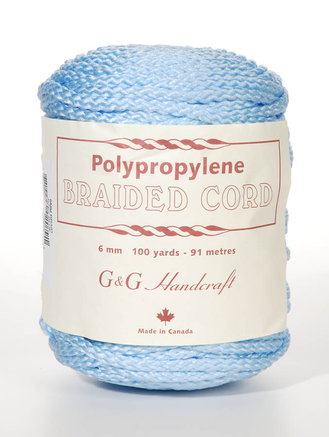 6mm Braid Macrame Cord Baby Blue