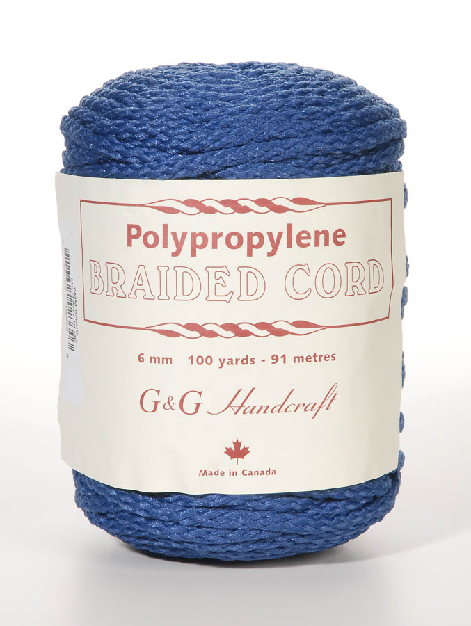 Braided Macrame Cord - Military Blue - 6mm - 100 yards