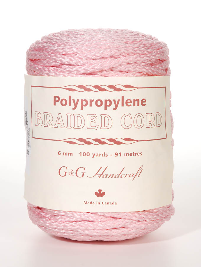 6mm Braid Macrame Cord Baby Pink