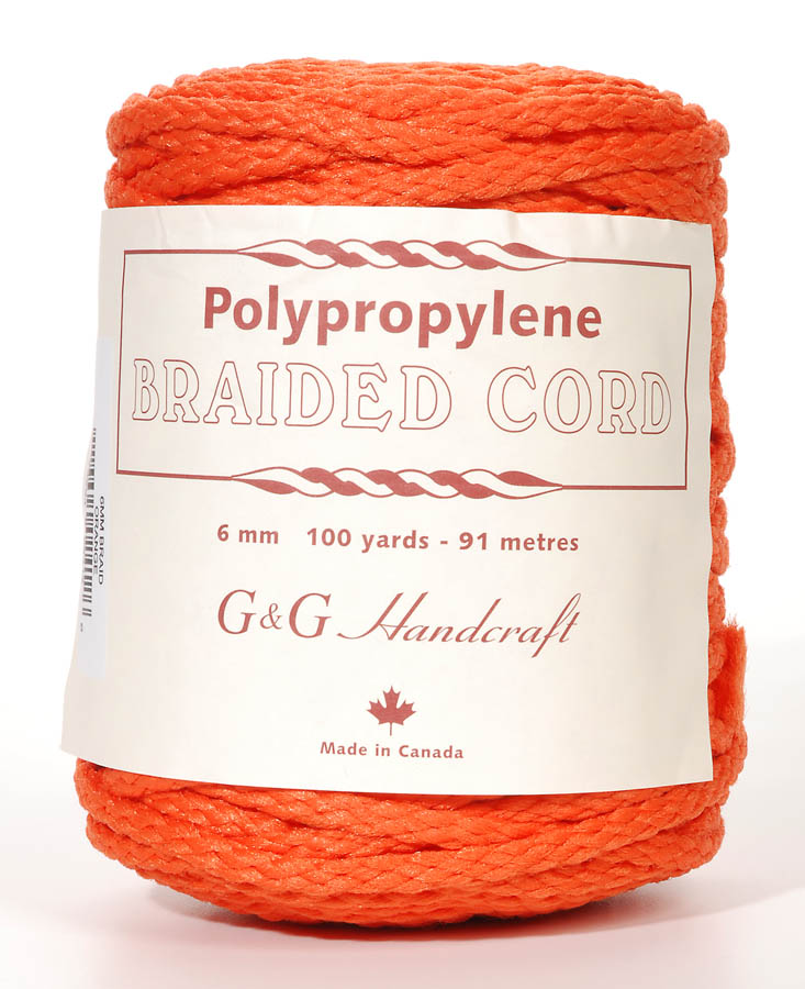 6mm Braid Macrame Cord Orange