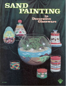 Sand Painting in Decorative Glassware