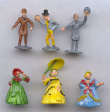 19th Century Figures - 3/4 inch to 1 inch tall - 6 figures