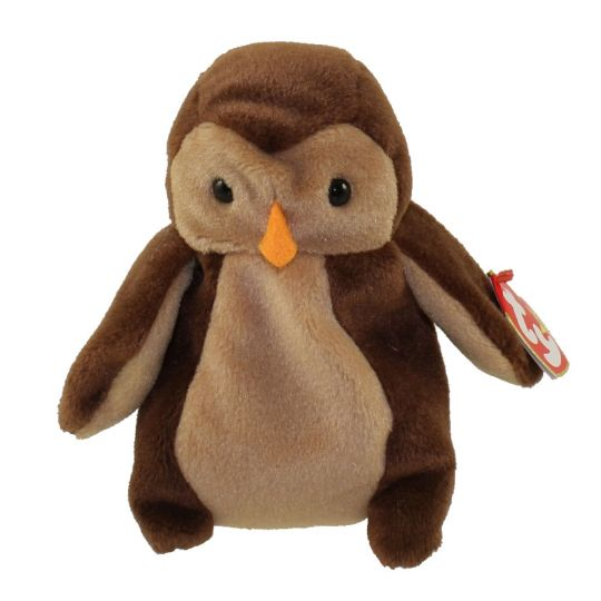 TY Beanie Baby - HOOT the Owl (Includes Canadian tush tag) (5 inch)