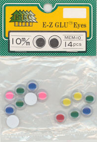 10mm Wiggle Eyes Multi
