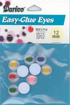 Wiggle Eyes Glue-on  12mm Multi
